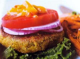 Red Lentil Veggie Burger