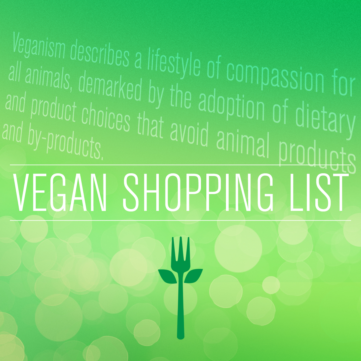 ordinary vegan shopping list