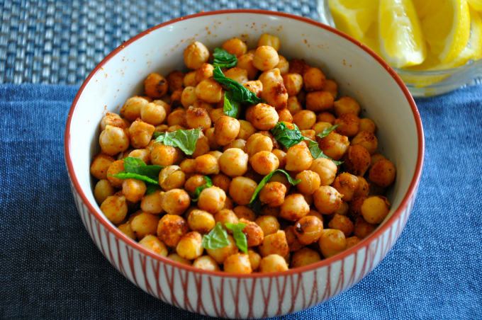 Roasted Garbanzo Beans with Lemon & Cayenne Pepper