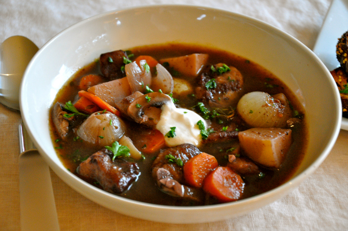 Why Eat Vegan Vegan Beef Stew With Red Wine Root Vegetables