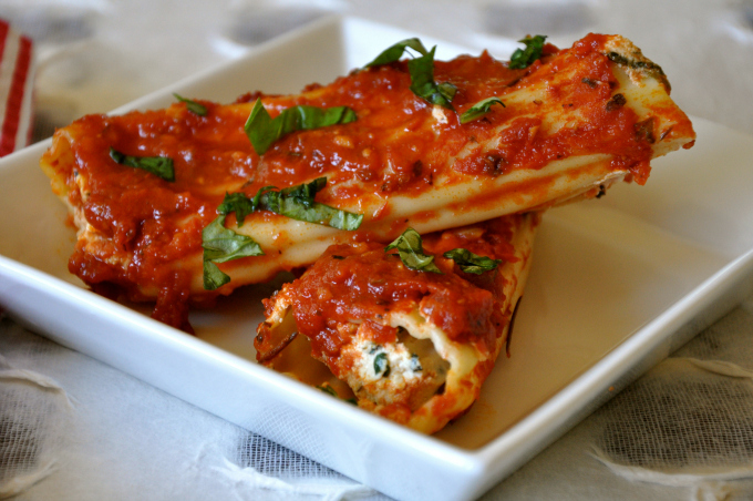vegan stuffed manicotti
