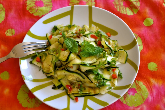 Grilled Zucchini Salad with Mint & Lemon