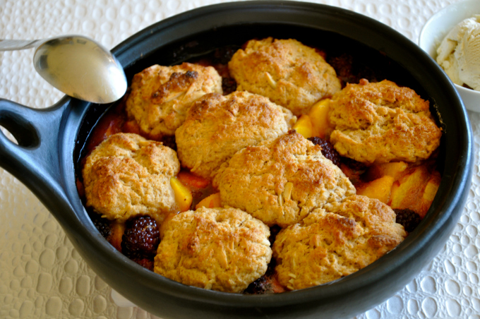 Blackberry & Peach Dumplings