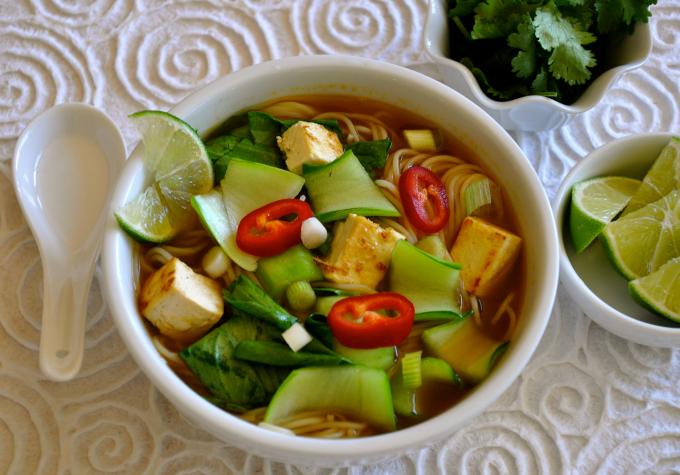 Vietnamese Vegan Pho Noodle Soup