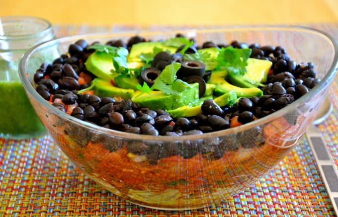 Layered Taco Salad