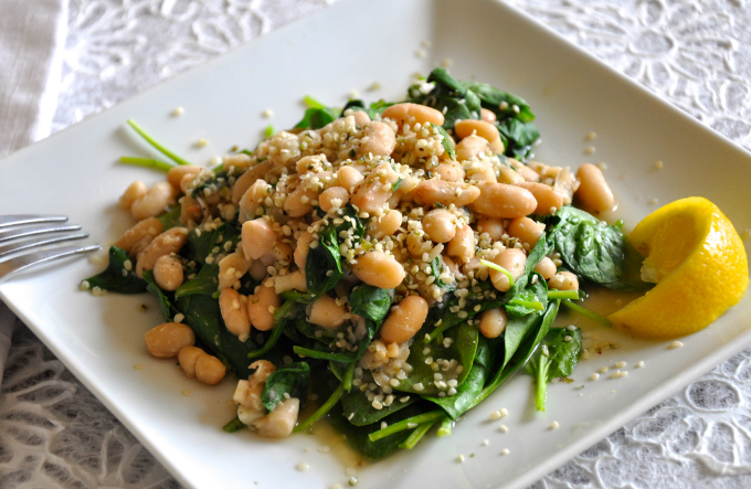Hemp Seeds Beans and Greens