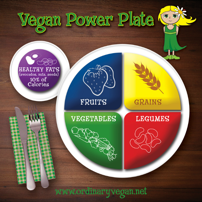 Vegan Power Plate for a Healthy Plant-Based Diet