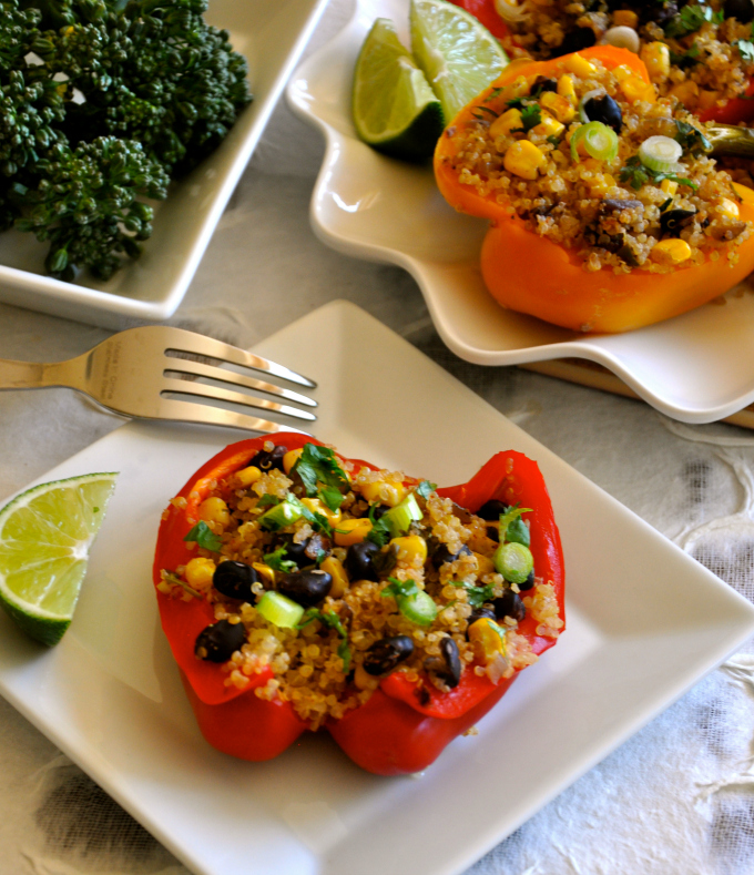 Healthy recipe southwestern stuffed peppers healthy recipe southwestern stuffed peppers forumfinder