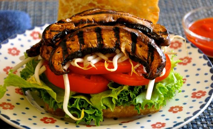 Grilled Smoky Portobello Mushroom Sandwich