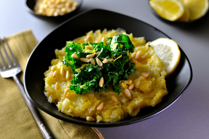 This creamy polenta can be a luscious bed for any topping. (#vegan) ordinaryvegan.net