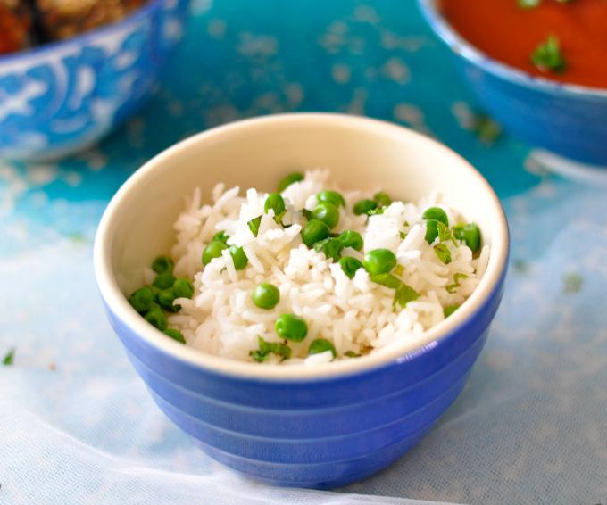 Serve your vegan meatballs over basmati rice flavored with fresh peas and mint. (#vegan) ordinaryvegan.net
