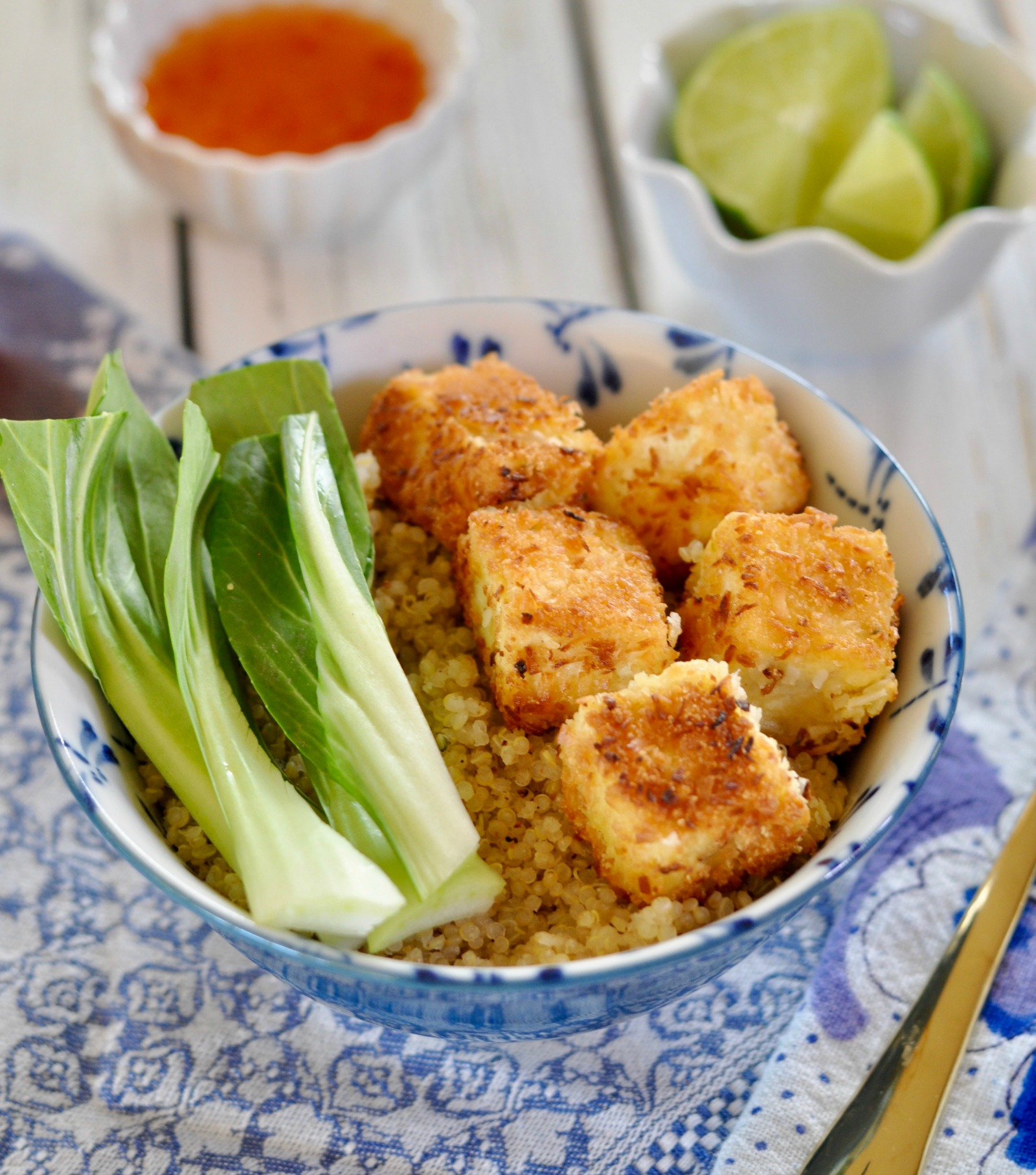 Treat your tastebuds to the crispy coconut flavors of this gluten-free easy baked tofu. This tofu can be enjoyed as a snack, on a salad or as meal of its own. (#vegan) ordinaryvegan.net
