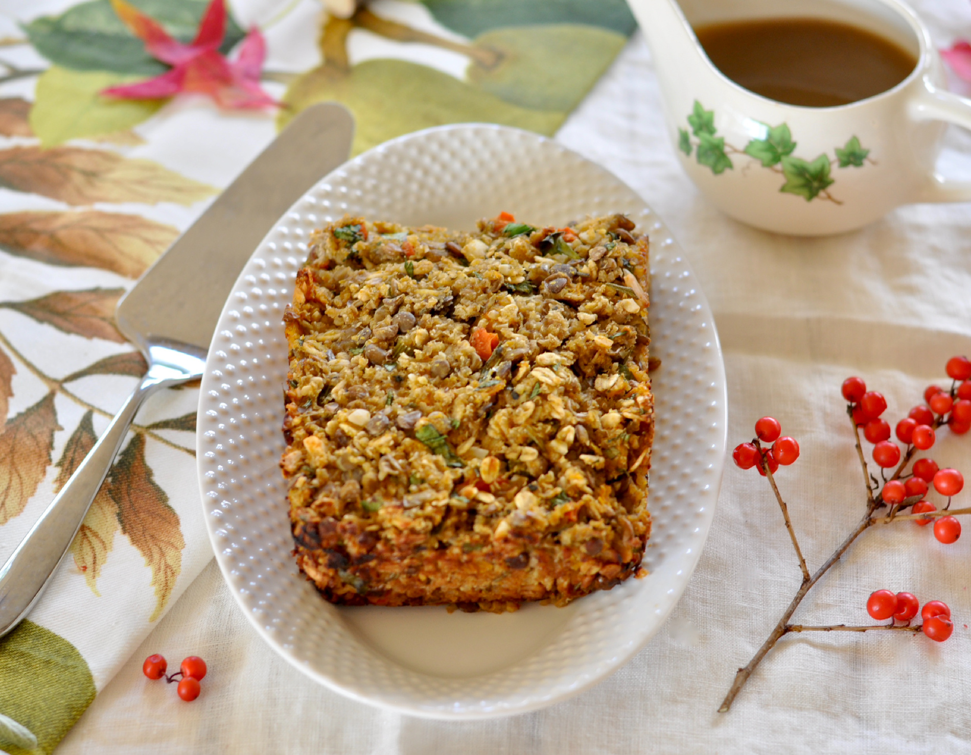 Hearty, comforting and packed with big savory flavors and aromatics, this vegan lentil loaf will become a family and holiday favorite. (#vegan) Ordinaryvegan.net