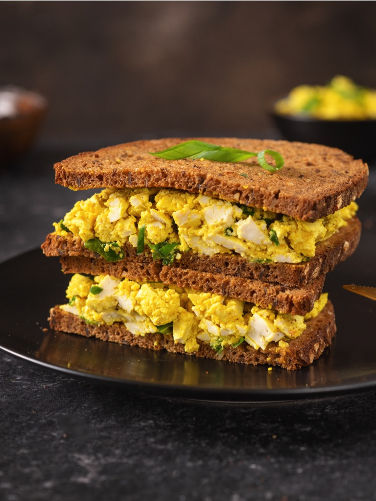 You won't miss the eggs when you taste this cholesterol free, gluten-free and completely vegan egg salad sandwich. (#vegan) ordinaryvegan.net